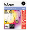 DIMMABLE HALOGEN A19 BULB, 72 W, 2/PACK