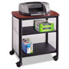 Impromptu Machine Stand, 1-Shelf, 26-1/4w x 21d x 26-1/2h, Cherry/Black