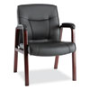 CHAIR,GUEST,LEATHER,MY,BK