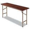 WOOD FOLDING TABLE, RECTANGULAR, 59 7/8W X 17 3/4D X 29 1/8H, MAHOGANY