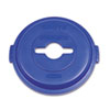 Single Stream Recycling Top For Brute 32gal Containers, Blue