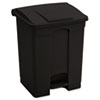 Large Capacity Plastic Step-On Receptacle, 17gal, Black