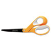 "Premier Non-Stick Titanium Softgrip Scissors, 8"" Length, Orange/Gray"