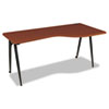 iFlex Series Full Table-Right, 65w x 31d x 29h, Cherry/Black