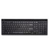 Slim Type Standard Keyboard, 104 Keys, Black/Silver