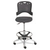 Circulation Stool, Polypropylene Back/Seat, Black