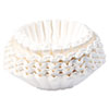 Flat Bottom Coffee Filters, 12-Cup Size, 250/pack
