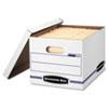 Easylift Storage Box, Letter/letter, Lift-Off Lid, White/blue, 12/carton