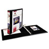 "Showcase Economy View Binder w/Round Rings, 11 x 8 1/2, 1 1/2"" Cap, Black"