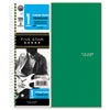 Wirebound Notebook, College Rule, 11 x 8 1/2, 100 Sheets, Green