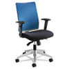 Tez Series Manager Synchro-Tilt Task Chair, Blue Mesh Back, Black Fabric Seat