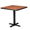 "Hospitality Table ""X"" Pedestal Base, 28"" High, Black"