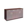 Wood Veneer Buffet Credenza Cabinet, 72w x 22d x 36h, Mahogany