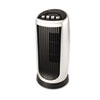 Personal Space Mini Tower Fan, Two-Speed, Black/Silver