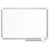 Ruled Planning Board, 72x48, White/Silver