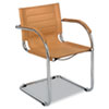Flaunt Series Guest Chair, Camel Microfiber/chrome