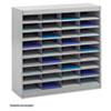 Steel/fiberboard E-Z Stor Sorter, 36 Sections, 37 1/2 X 12 3/4 X 36 1/2, Gray