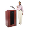 Presidential Plus Wireless Lectern, 25-1/2w x 20-1/2d x 46-1/2h, Mahogany