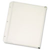 Zippered Binder Pockets, 11 x 8 1/2, Clear, 3/Pack