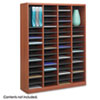 Wood/Fiberboard E-Z Stor Sorter, 60 Slots, 40 x 11 3/4 x 52 1/4, Cherry, 2 Boxes 9331CY
