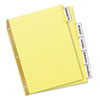 WorkSaver Big Tab Reinforced Dividers With Clear Tabs, 5-Tab, Letter, Buff