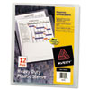 Heavy-Duty Plastic Sleeves, Letter, Polypropylene, Clear, 12/pack