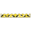 "Bordette Bee Dazzle Design Decorative Border, 2 1/4"" x 25ft, Black/White/Yellow"