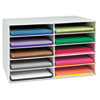 Classroom Construction Paper Storage, 10 Slots, 26 7/8 x 16