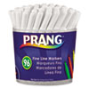 Prang Markers, Fine Point, 12 Assorted Colors, 96/Set