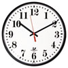"""Quartz Slimline Clock, 12-3/4"""", Black"""
