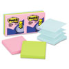 Pop-Up Refills, 3 x 3, Three Pastel Colors, 6 100-Sheet Pads/Pack
