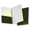 Gold Fibre Personal Notebook, College/Med Rule, 5 x 7, White/Green, 100 Sheets