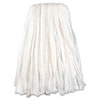 Nonwoven Cut End Edge Mop, Rayon/polyester, #20, White, 12/carton