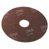 "Surface Preparation Pad, 19"" Diameter, Maroon, 10/Carton"
