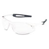 Inertia Safety Glasses, White Frame, Clear Anti-Fog Lens, One Size