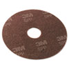 "Surface Preparation Pad, 13"" Diameter, Maroon, 10/Carton"