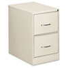 Two-Drawer Economy Vertical File, Legal, 18 1/4w x 26 1/2d x 29h, Light Gray