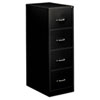 Four-Drawer Economy Vertical File, Legal, 18 1/4w x 26 1/2d x 52h, Black