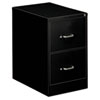 Two-Drawer Economy Vertical File, Legal, 18 1/4w x 26 1/2d x 29h, Black