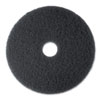 High Productivity Floor Pad 7300, 20 Diameter, Black, 5/carton