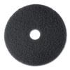 High Productivity Floor Pad 7300, 20 Diameter, Black, 5/carton