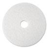 POLISHING FLOOR PADS, 19 DIAMETER, WHITE, 5/CARTON
