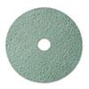 Burnish Floor Pad 3100, 20 Diameter, Aqua, 5/carton
