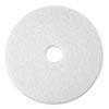 Super Polish Floor Pad 4100, 20 Diameter, White, 5/carton