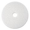 Super Polish Floor Pad 4100, 17 Diameter, White, 5/carton