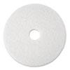 Super Polish Floor Pad 4100, 13 Diameter, White, 5/carton