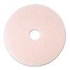 Ultra High-Speed Eraser Floor Burnishing Pad 3600, 20 Diameter, Pink, 5/carton