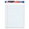 Picture of American Pride Writing Pad LegalWide 8 12 x 11 34 White 50 Sheets Dozen