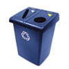 Glutton Recycling Station, Two-Stream, 46 Gal, Blue