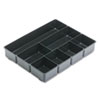 Extra Deep Desk Drawer Director Tray, Plastic, Black